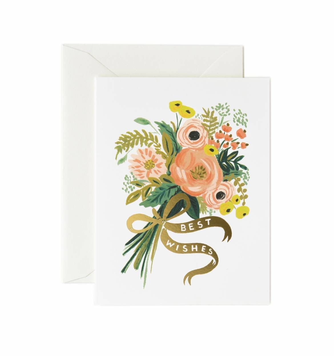 Best Wishes Bouquet Greeting Card For The Home Pinterest Products