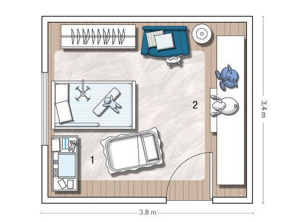 Plano de cuarto ni o buscar con google planos for Plano habitacion online