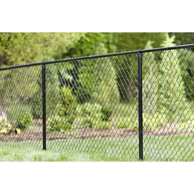 Actual 50 Ft X 4 Ft Vinyl Coated Steel Chain Link Fence Fabric At Lowes Com In 2020 Fence Fabric Chain Link Fence Steel Chain