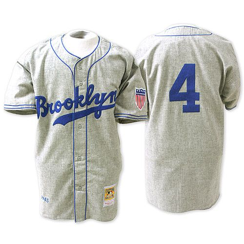 Brooklyn Dodgers Authentic 1945 Babe Herman Road Jersey By Mitchell Ness Mlb Apparel Jersey Dodgers Shirts