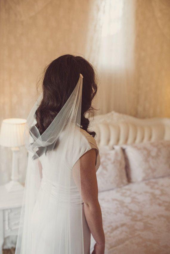 Drape Veil Draped Veil Wedding Veil Soft Veil Boho Veil Silk