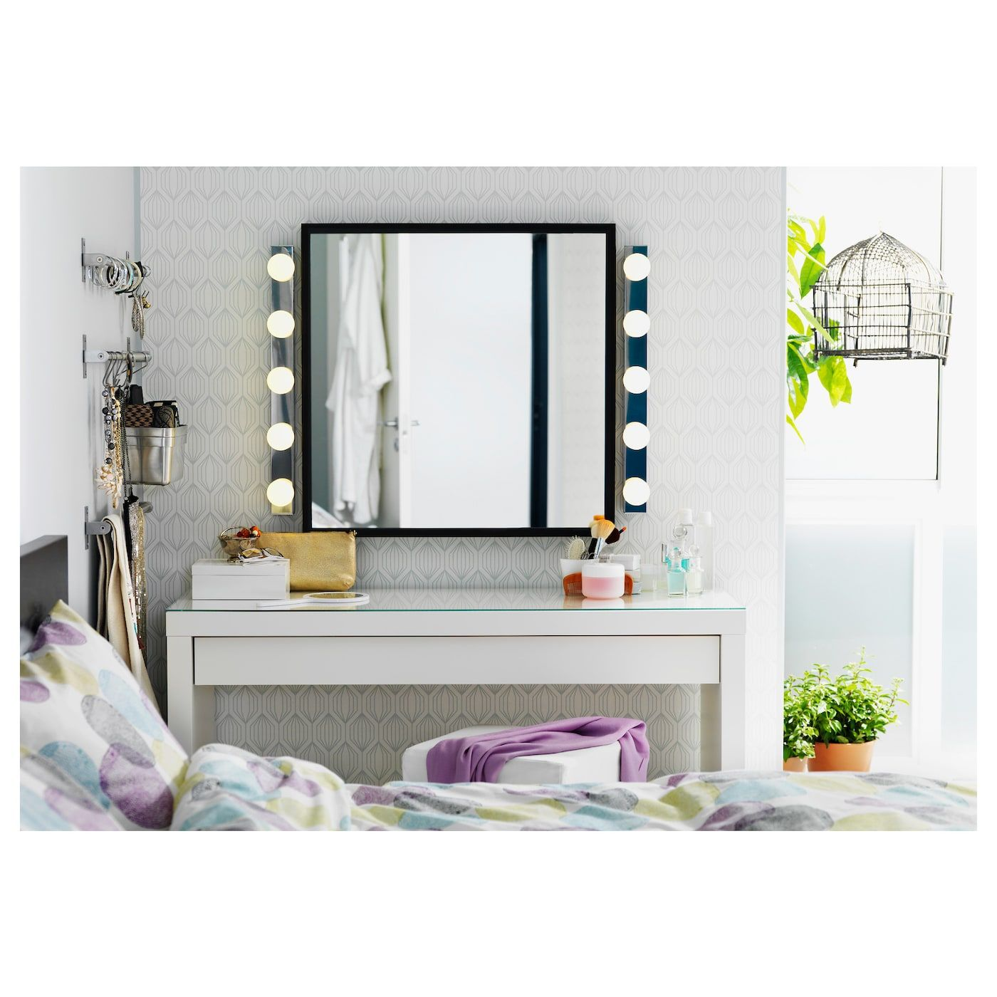 "MALM Dressing table white 47 1/4x16 1/8 "" Malm"