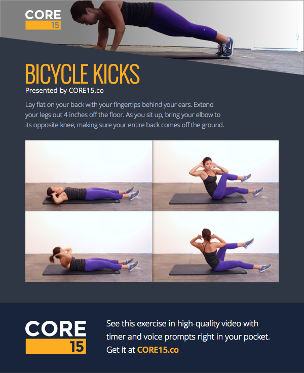 This exercise is part of a full workout called Core Tabata on the Core15 app.