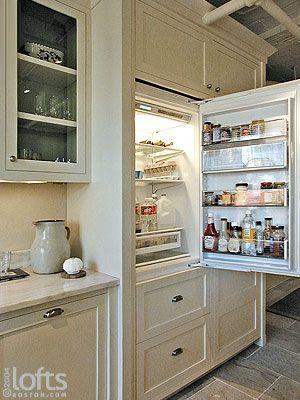 Luxury Refrigerators fully integrated sub zero refrigerator | kitchen | pinterest