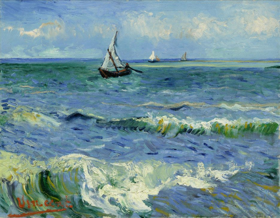 Vincent Van Gogh 1853 1890 Seascape Near Les Saintes Maries De