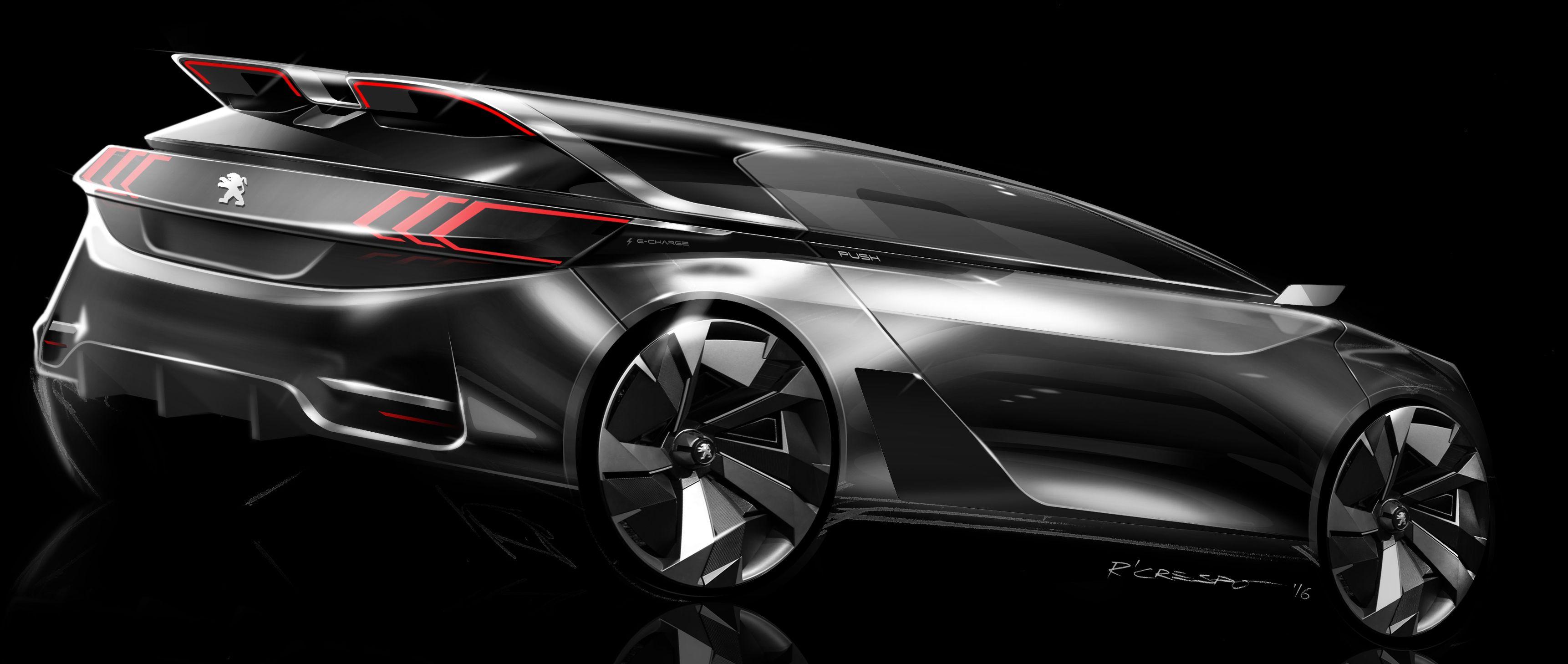 Peugeot sketch raphael crespo concept pinterest design voiture et transport - Croquis voiture ...