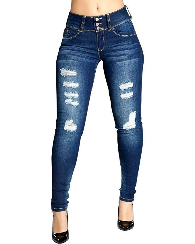 Amazon Com Ymi Women S Better Butt Jeans Distresse Womens