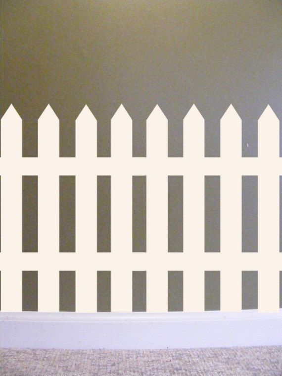 Picket Fence Vinyl Wall Decal French Country Home Cottage Chic Decor For  Kids Room Pretty White