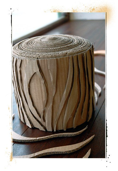 Cardboard Tree Stump Cardboard Sculpture Cardboard