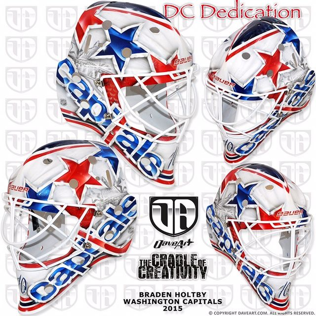 Holtby Keeps It Simple With New Caps Mask Braden Holtby Goalie Mask Goalie