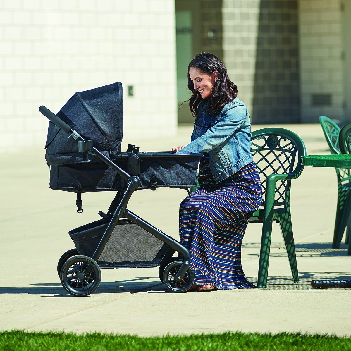 Evenflo Sibby Travel System Slate Blue Learn more by