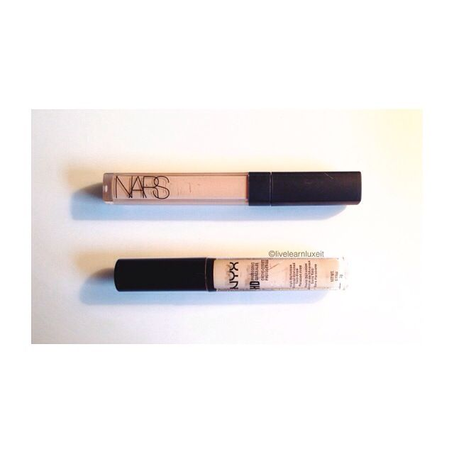 NYX HD Concealer in Beige Dupe for Nars Radiant Creamy Concealer in Custard