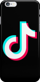 Tik Tok Official White Logo Snap Case for iPhone 6