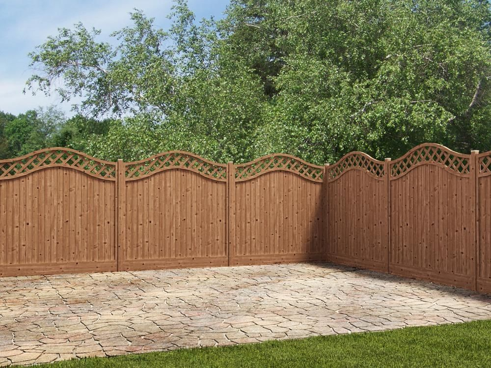 Our Wavy Trellis Pressure Treated Fence Panel Is A Stylish