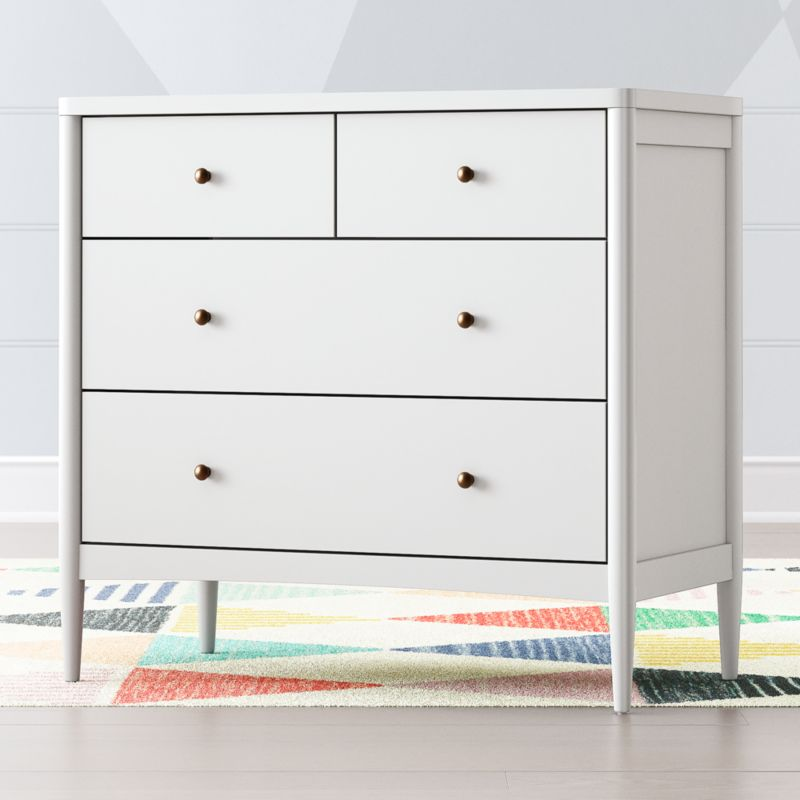 Kids Hampshire White 4 Drawer Dresser Reviews Crate And Barrel 4 Drawer Dresser White Kids Furniture Kids Furniture Dresser
