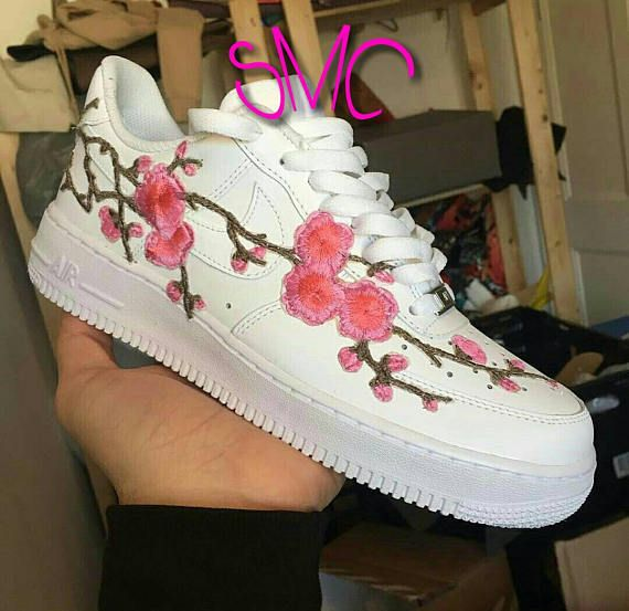 Now available customized rose printed sneakers