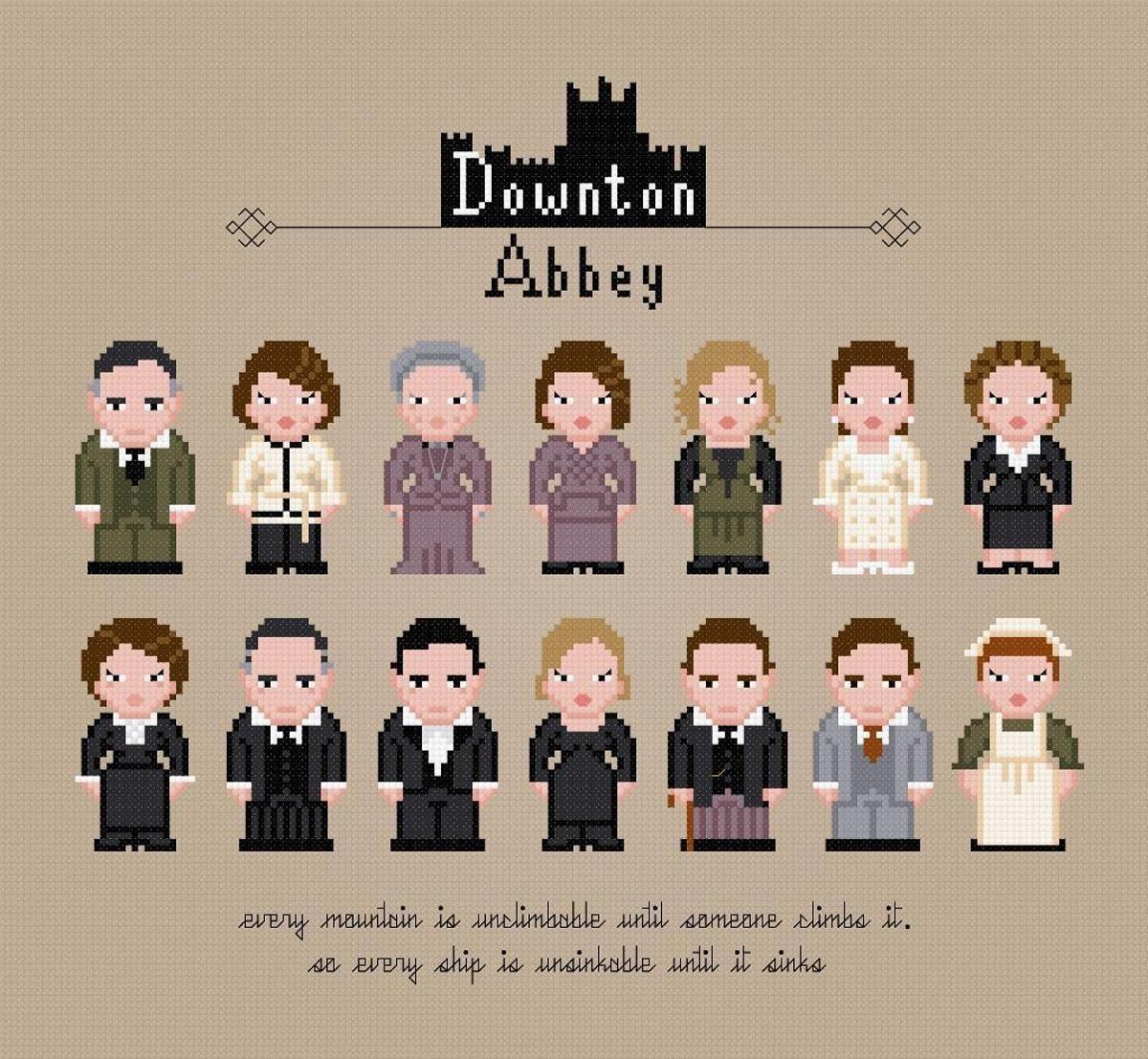 Downton Abbey PDF Cross Stitch Chart | Craftsy