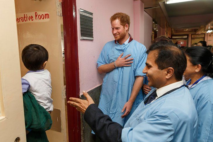 Pin for Later: Prince Harry Brings a Smile to Little Kids' Faces in Nepal