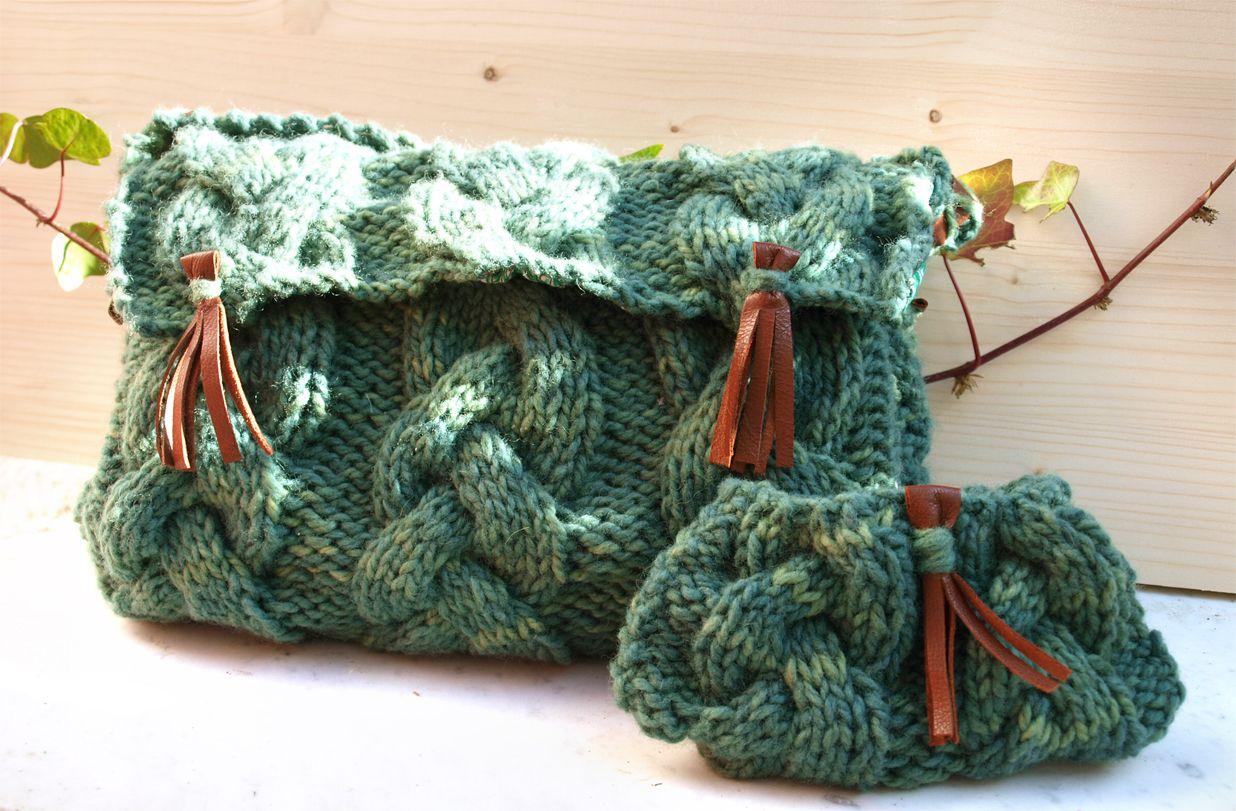 Bolso con trenzas. Kit para tejer de Yoypunto | Bolsos de crochet y ...