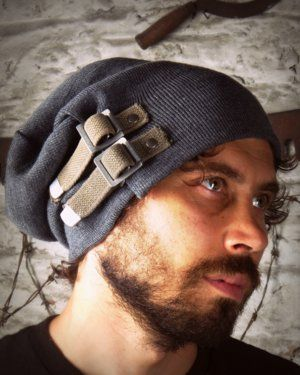 Image of SH76  SMERSH  UP-Cycled Military Surplus Slouch Hat W Straps 4e67d8671ca