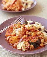 Saffron Sea Bass Stew. Weight Watchers recipe