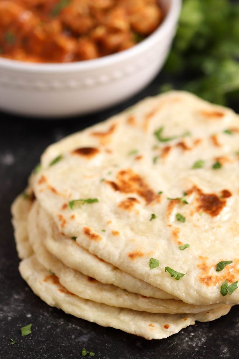 Easy Homemade Naan Bread Recipe In 2020 Homemade Naan Bread Food Naan Bread