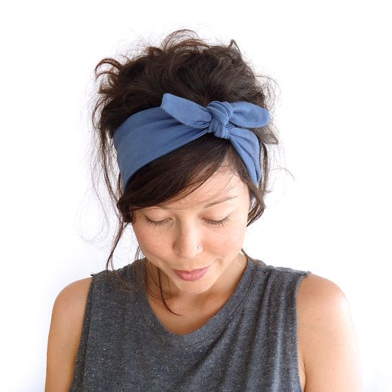 various colors designer fashion most popular Tie Up Headscarf // Fabric Headband // Tie Up Hair Wrap ...