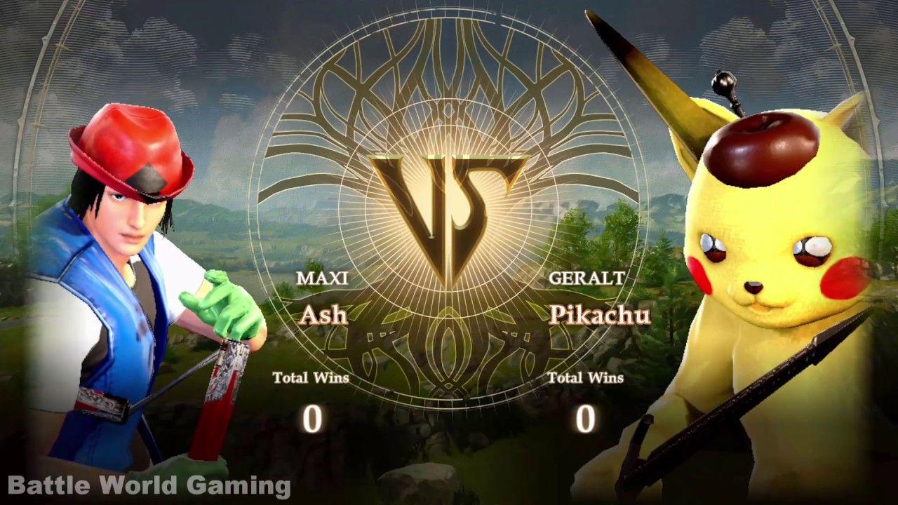 Ash Vs Detective Pikachu Soul Calibur Vi Custom Characters