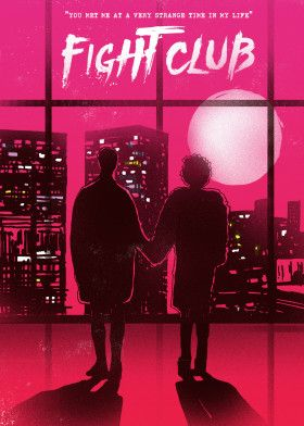 """Fight Club by GoldenPlanet Prints 