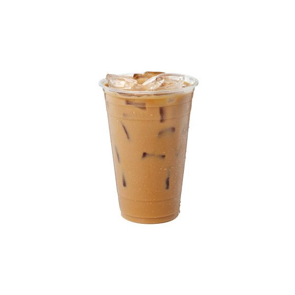 An Iced Mocha Latte In A Plastic Cup With Cover And Straw