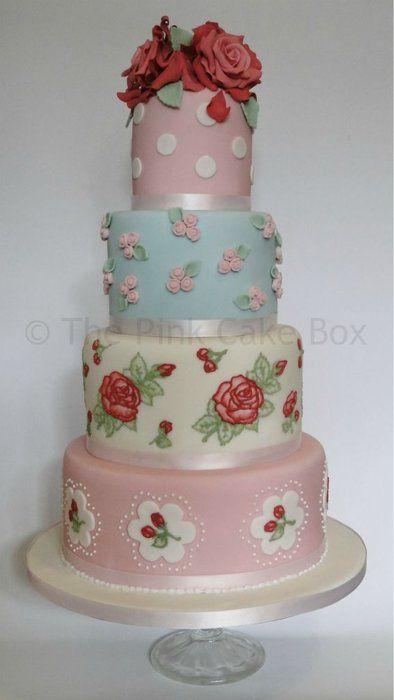 Cath Kidston Vintage Wedding Cake....