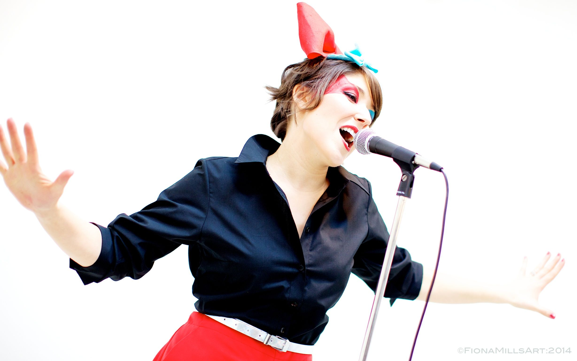 Band promo pics. Lead singer, lady vocalist. High key high