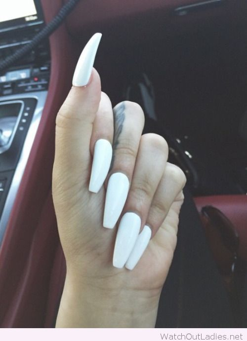 Long white nails xoxo | watchoutladies.net | Pinterest | Long white ...