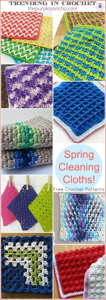 Trending In Crochet – Spring Cleaning Cloths! Get these Free Crochet ...