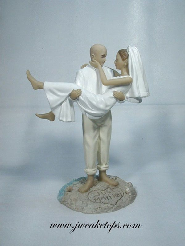 Pin On Bald Grooms Wedding Cake Toppers