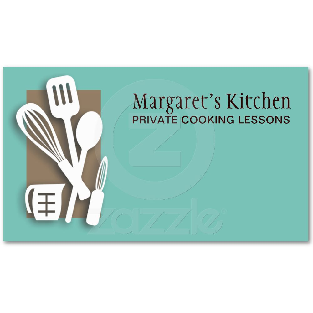 kitchen cooking utensils chef culinary biz cards business card ...