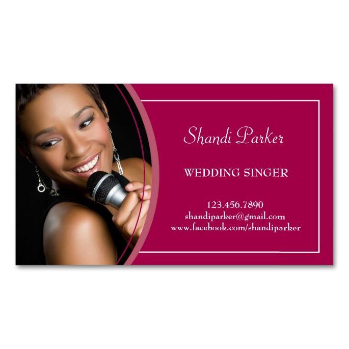 Music wedding singer photo business card make your own business music wedding singer photo business card make your own business card with this great design colourmoves Choice Image
