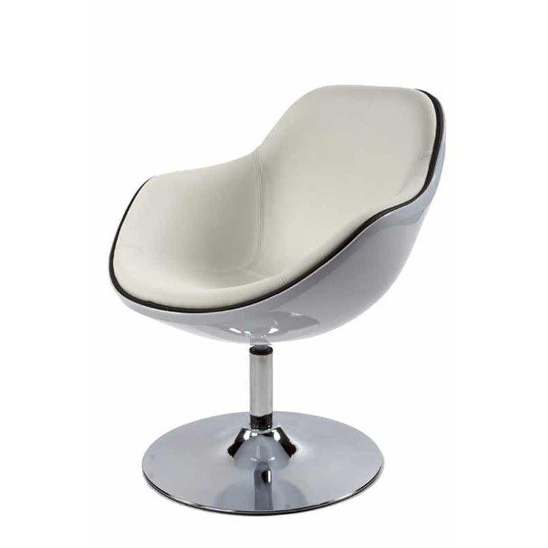fauteuil design quot moon quot blanc