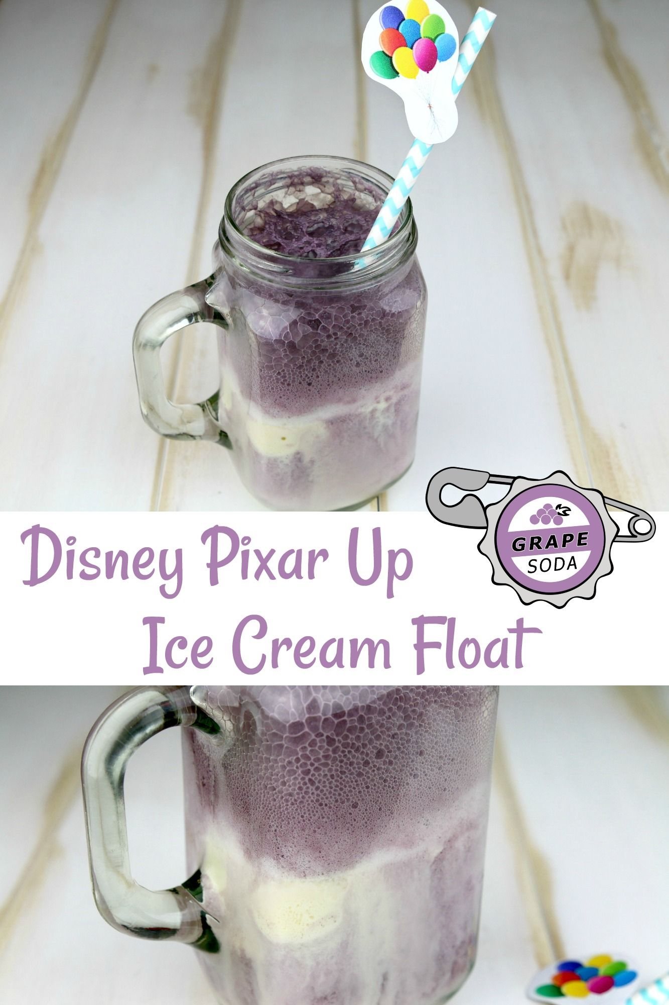 Disney Pixar Up Grape Soda Float - #PixarFest - Life. Family. Joy