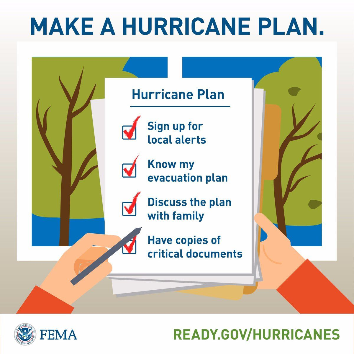 Make A Hurricane Plan Www Ready Gov Hurricanes Getting Things Done Flood Insurance Hurricane Preparation