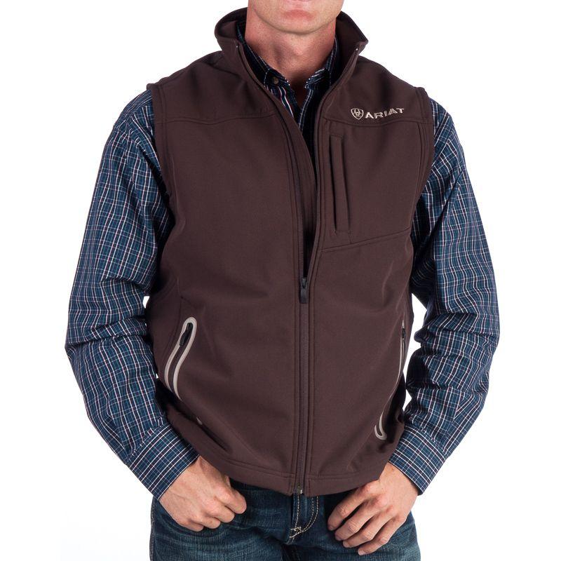 b70233b5b1f36 Men s Ariat Brown Bonded Vest