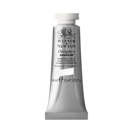 Great white out even over ink - Winsor & Newton Designers Gouache Tube, 14ml, Permanent White - Diane Gronas Graphics