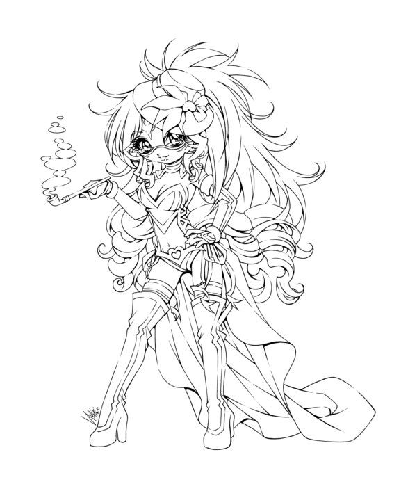 eclair the red queen... by sureya on DeviantArt | Coloring pages for ...