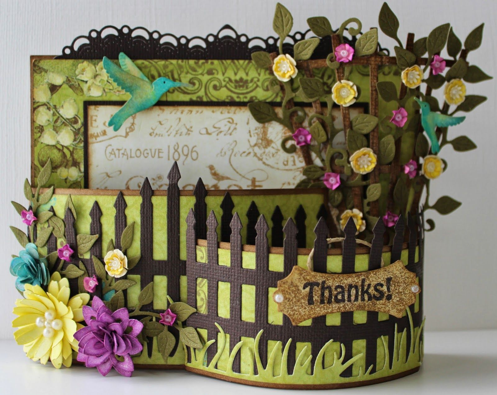 Corina Finley, author of the Cherry Lynn Designs Blog, designed this garden gate card.