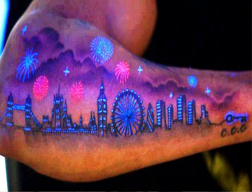 19++ Awesome Glow in the dark tattoo near me image ideas