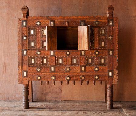 Wooden Indian Damchiya Cabinet   SHOP NECTAR - High Falls, NY