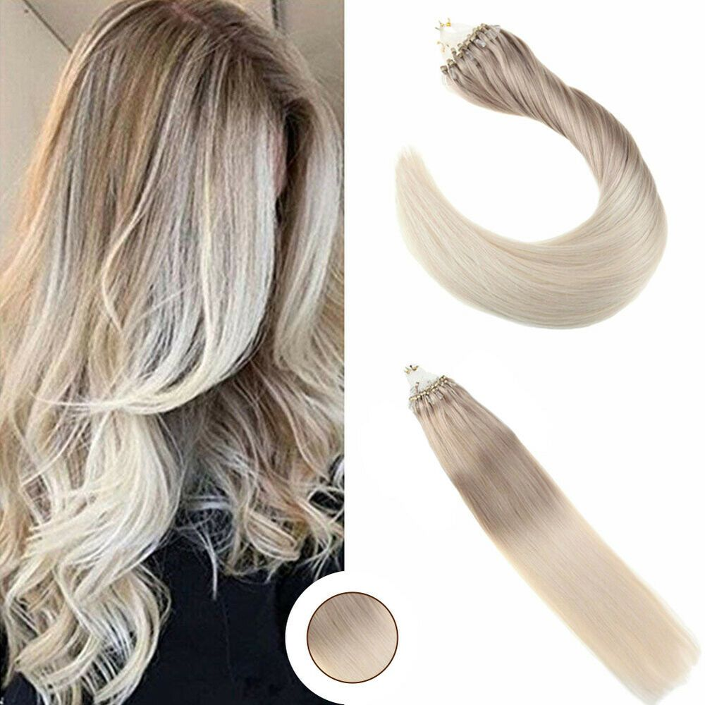 Ugeat 50gr Micro Ring Human Hair Extensions Real Brazilian Hair