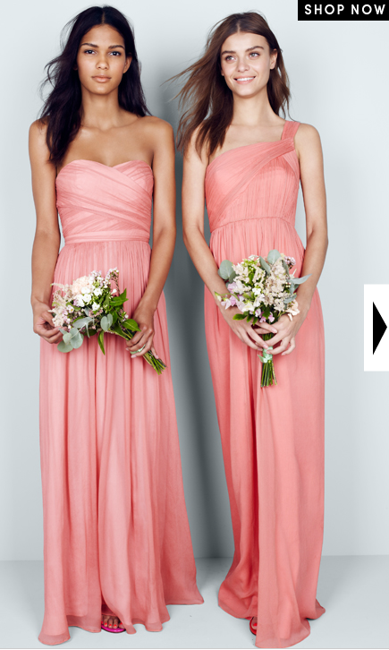J Crew Bridesmaids In Arabelle And Lucienne Bright C The Color Is A Little Too Muted Maybe Brighter But Cuts Are So Pretty