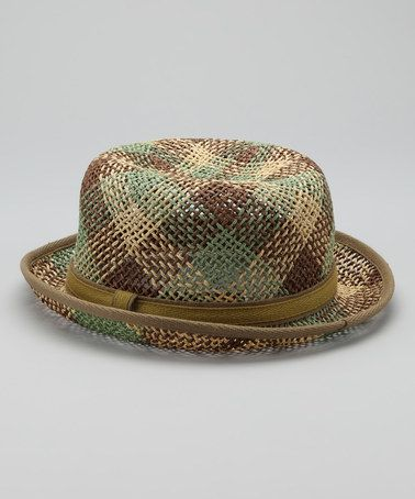 Take a look at this Natural Plaid Hat by Grace Hats on #zulily today! $15.99
