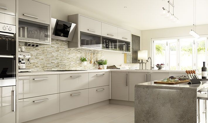 Wickes glencoe cashmere 39 s cool colouring and high gloss for Kitchen 0 finance wickes